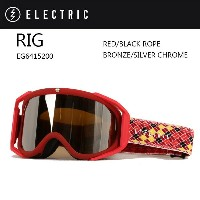 2016 ELECTRIC エレクトリック ゴーグル RIG RED/BLACK ROPE BRONZE/SILVER CHROMEアジアンフィット