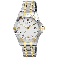 ウェンガー Wenger メンズ アクセサリー 腕時計【Swiss Military Alpine Elite Analog Watch - 42mm, Two-Tone Stainless...