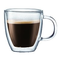 Bodum Bistro 2-Piece Double Wall Mug, 10-Ounce, Clear by Bodum