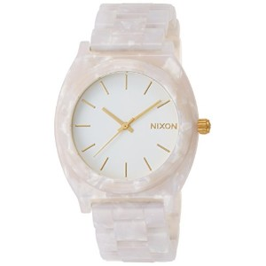 [ニクソン]NIXON TIME TELLER ACETATE: WHITE GRANITE/GOLD NA3272031-00  【正規輸入品】