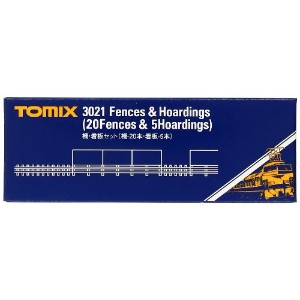 TOMIX Nゲージ 柵 看板セット 柵-20本、看板-5枚 3021 鉄道模型用品