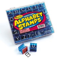 Learning Resources Alphabet Stamps Uppercase 【英語教材 先生スタンプ】 アルファベットスタンプ 大文字 正規品