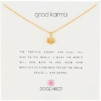 "[ドギャード] Dogeared Reminder gold dip Good Karma/happy lotus ネックレス 16"" ネックレス MRGG100422404"