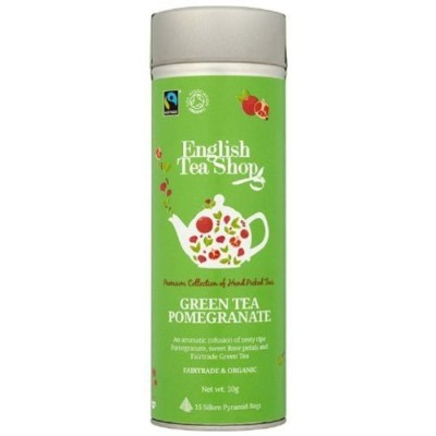 Green Tea Pomegranate ラウンド缶 15p