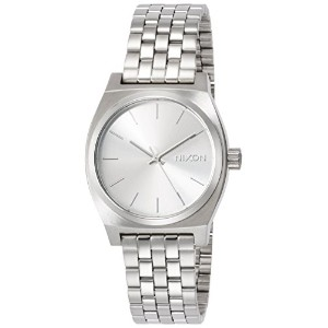 [ニクソン]NIXON MEDIUM TIME TELLER: ALL SILVER NA11301920-00  【正規輸入品】
