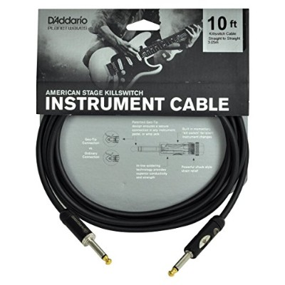 Planet Waves by D'Addario プラネットウェーブス ギターシールド American Stage Kill Switch Instrument Cable PW-AMSK-10...