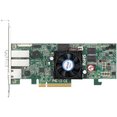 ARECA SAS/SATA RAIDカード 8ポート PCIe3.0、On-Board Cache 2GB 2x SFF-8644 ARC-1883X