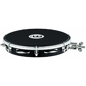 "MEINL Percussion マイネル パンデイロ Traditional ABS Pandeiro with Holder 10"" PA10A-BK-NH-H 【国内正規品】"