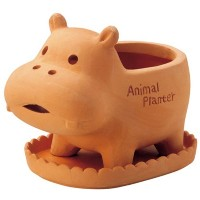 GREEN HOUSE Animal Terracotta Mサイズ カバ 2543-D