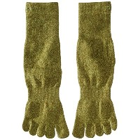 ToeSox Sport Perfdry Light Weight Crew Brindle Olive Small Brindle Olive S(22.5cm~24.5cm)
