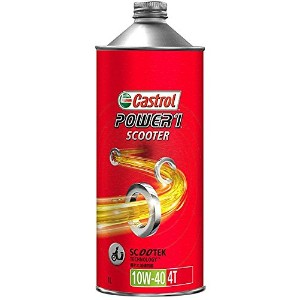 CASTROL(カストロール) エンジンオイル POWER1 SCOOTER 4T 10W-40 MA 部分合成油 二輪車4サイクルエンジン用 1L [HTRC3]