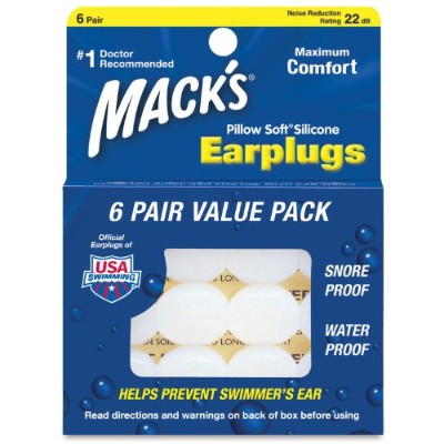 Macks Pillow Soft Silicone Earplugs Value Pack, 6-Count (Pack of 2) by Macks [並行輸入品]