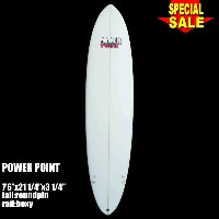 "Power Point パワーポイント サーフボード ファン 7'6"" フィン付 Funboard (A80264)サーフィン サーフボード Surfboard 未使用アウトレット特価【代引不可】"