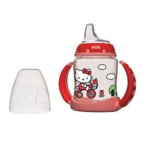【送料無料】【NUK Hello Kitty Silicone Spout Learner Cup - 5 Ounce by NUK】 b008t2sm42