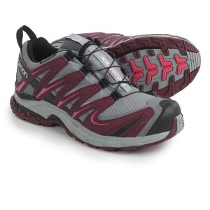 サロモン Salomon レディース ハイキング シューズ・靴【XA Pro 3D Climashield Trail Running Shoes - Waterproof 】Grey/Bordeaux/Hot Pink