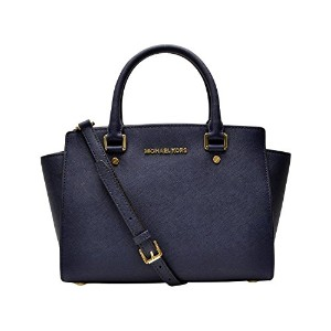 (マイケルコース) MICHAEL KORS バッグ 30S3GLMS2L 406 SELMA MD TZ SATCHEL SAFFIANO LEATHER 18K ショルダーバッグ NAVY...