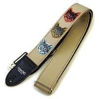 Couch Guitar Strap ギター用ストラップ ニャン・ニャン・ニャン・マルチ / The Couch Multi-Colored Cat Guitar Strap