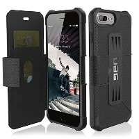 URBAN ARMOR GEAR 5.5インチ対応(iPhone8Plus/7Plus/6sPlus) Metropolis Case ブラック UAG-IPH7PLSF-BLK【日本正規代理店品】
