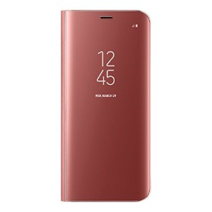 Galaxy S8+ (6.2インチ)用 CLEAR VIEW STANDING COVER【Galaxy純正 国内正規品】ピンク EF-ZG955CPEGJP