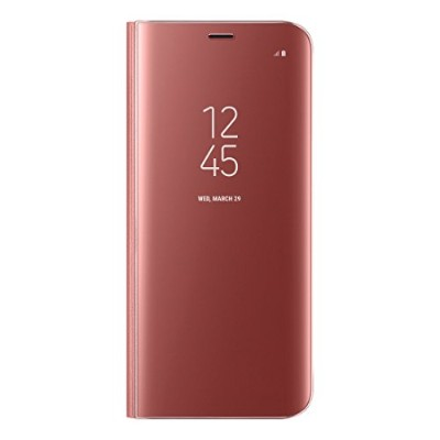 Galaxy S8 (5.8インチ)用 CLEAR VIEW STANDING COVER【Galaxy純正 国内正規品】ピンク EF-ZG950CPEGJP