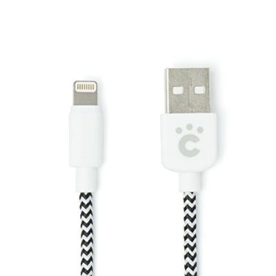 cheero Fabric braided USB Cable with Lightning 100cm [ Apple社のMFi 認証取得済み ] 充電 / データ転送 ケーブル iPhone...