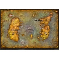 """The World of Warcraft Two-Sided World Map 24"""" X 32"""" (輸入版)"""