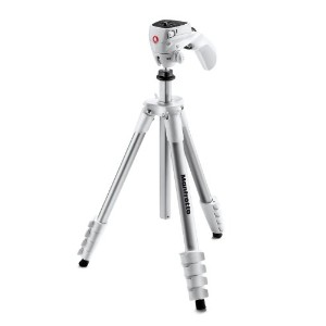 Manfrotto 三脚 COMPACT Action フォト・ムービーキット アルミ 5段 ホワイト MKCOMPACTACN-WH