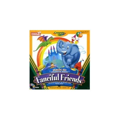Crayola Magic 3D Coloring Book - Fanciful Friends (輸入版)