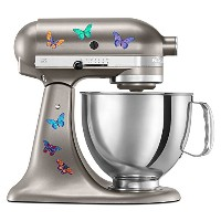 Kitchen Aid Mixer Beautiful Butterfly Artistic Full Color Post Impressionist Painted Style Decal...