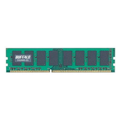 BUFFALO PC3-12800対応 240Pin DDR3 SDRAM DIMM 2GB D3U1600-2G