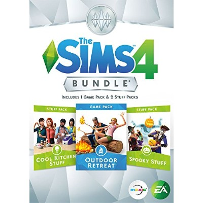 The Sims 4 Bundle - Outdoor Retreat, Cool Kitchen Stuff, Spooky Stuff (PC CODE Download Only) (輸入版)