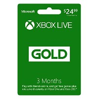 Xbox360 Live 3 Month Gold Card