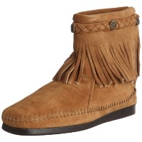 [ミネトンカ] MINNETONKA 公式 HI TOP BACK ZIP BOOT 297T TAUPE (TAUPE/US9)