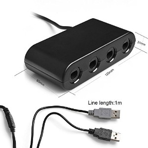 Kabalo GameCube GC / WaveBird to Wii U & PC USB Controller Adapter Converter, Black