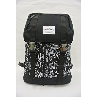 Keith Haring Backpack フラップトップ バッグパック(ブラック)