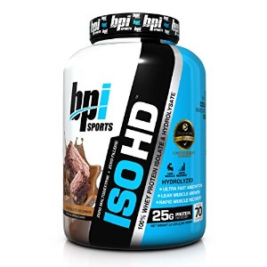 ISO HD, 100% Whey Protein Isolate & Hydrolysate, Chocolate Brownie, 5.0 lbs (2,285 g)