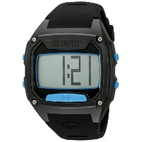 Shark Tooth, Black/Cyan Face, Black Silicone Strap