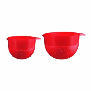 Bodum Bistro Mixing Bowls in Red Set of 2 14l and0 28l