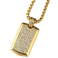 MCSAYS ヒップホップ ファッション hiphop メンズアクセサリー Steel Smooth Army Card Pendant With Full Of Rhinestone Dog...