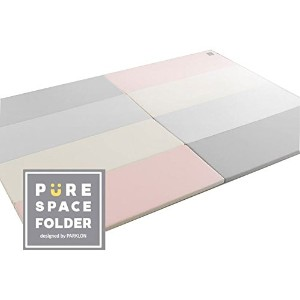 Parklon Pure Space Folder Vanilla Pink Gray Paly Mat(4size) キッズプレイマット、体育館のマット(海外直送品) (160x120x4cm)