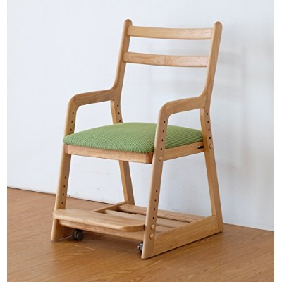 ISSEIKI 学童 CHAIR チェア グリーン 木製家具 LIFE DESK CHAIR (NA+GR)