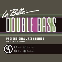 La Bella 7710N/Professional Jazz/Light Tension/Double Bass Strings/Black Nylon Tape Wound on a Rope...