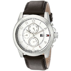 Tommy Hilfigerトミーヒルフィガー 男性用腕時計 Men's 1710294 Stainless Steel Watch with Brown Leather Band 並行輸入