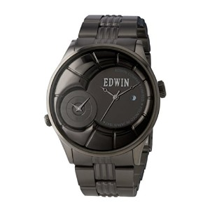 Edwin VINTAGED Men's Dual Time Watch, Stainless Steel Case with Stainless Steel Band