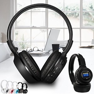 ELEGIANT B750 Stereo Bluetooth 4.0 Wireless Headset+ Mic For iPhone Cellphone PC Laptop ブラック ブラック