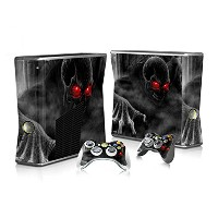 XBOX 360 Slim Skin Design Foils Faceplate Set - Dark Skull Design