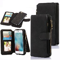 iPhone 6 Case, CaseUp 12 Card Slot Series - Premium Flip PU Leather Wallet Case Cover (ブラック)お財布付き ...