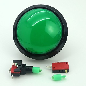 Easyget 5v 100mm Dome Shaped Jumbo LED Illuminated Self-resetting Push Button Switch for Arcade...