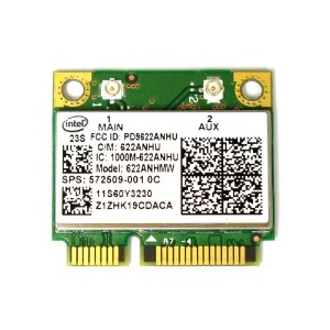 Lenovo/HP純正 Intel Centrino Advanced-N 6200 無線LANカード(FRU P/N 60Y3231 HP SPS:572509-001)
