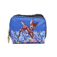 LeSportsac(レスポートサック) ポーチ 化粧ポーチ Square Cosmetic Pouch ディズニ―×レスポ限定コラボ Bed of Flowers [並行輸入品]